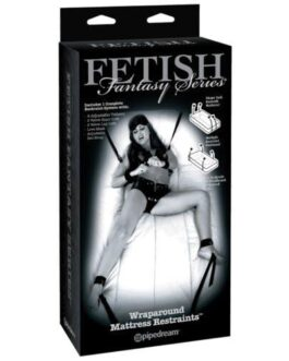 Fetish Fantasy Limited Edition Wraparound Mattress Restraints – Black