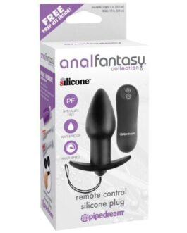 Anal Fantasy Collection Remote Control Silicone Plug – Black
