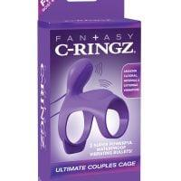 Fantasy C Ringz Ultimate Couples Cage – Purple