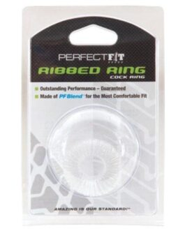 Perfect Fit Ribbed Ring – Clear