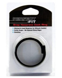 Perfect Fit Neoprene Snap Cock Ring – Black