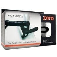 "Perfect Fit Zoro 6.5"" Strap-On – Black"