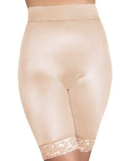 Rago Shapewear Long Leg Shaper w/Gripper Stretch Lace Bottom Beige 12X