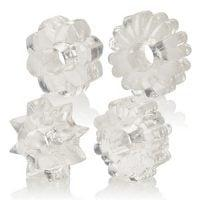 Basic Essentials Rings – Clear Set of 4