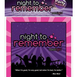 """Night to Remember Standard 6.5"""" Napkins – Pack of 10 by sassigirl"""