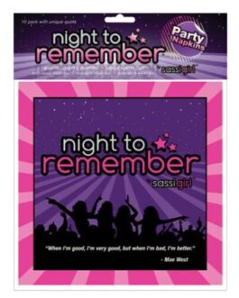 "Night to Remember Standard 6.5"" Napkins – Pack of 10 by sassigirl"