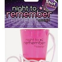 Night to Remember Shot Glass Necklace by sassigirl