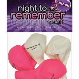 """Night to Remember 10"""" Balloons w/Print – Pack of 5 by sassigirl"""