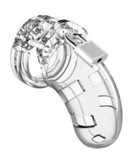"""Shots Man Cage Chastity 3.5"""" Cock Cage Model 1 – Clear"""