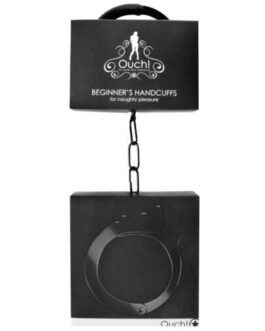 Shots Ouch Beginner Handcuffs – Black