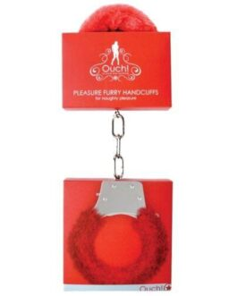 Shots Ouch Furry Pleasure Handcuffs – Red