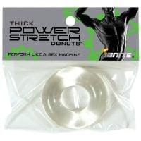 Ignite Thick Power Stretch Donut Cock Ring – Clear