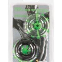 Ignite Thick Power Stretch Donuts – Black/Clear Pack of 2