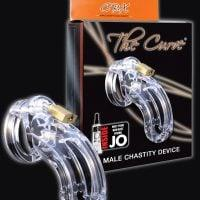 """CB-6000 3 3/4"""" Curved Cock Cage & Lock Set  – Clear"""