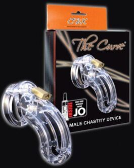 "CB-6000 3 3/4"" Curved Cock Cage & Lock Set  – Clear"