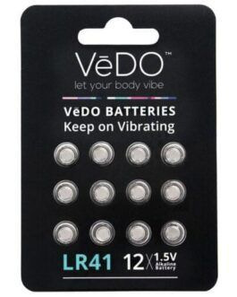 VeDO LR41 Batteries – 1.5V Pack of 12