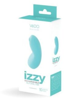 VeDO Izzy Rechargeable Clitoral Vibe – Turquoise