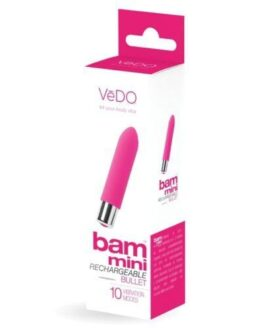 VeDO Bam Mini Rechargeable Bullet Vibe – Foxy Pink