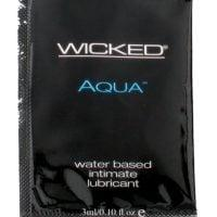 Wicked Sensual Care Aqua Waterbased Lubricant – .1 oz Fragrance Free