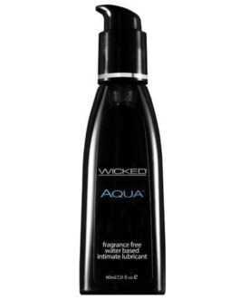 Wicked Sensual Care Aqua Waterbased Lubricant – 2 oz Fragrance Free