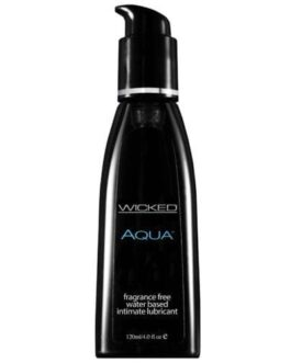 Wicked Sensual Care Aqua Waterbased Lubricant – 4 oz Fragrance Free