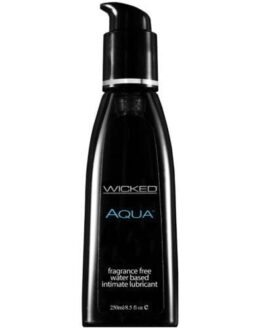 Wicked Sensual Care Aqua Waterbased Lubricant – 8.5 oz Fragrance Free