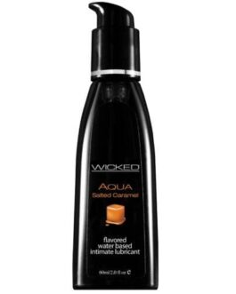 Wicked Sensual Care Aqua Waterbased Lubricant – 2 oz Salted Caramel