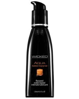 Wicked Sensual Care Aqua Waterbased Lubricant – 4 oz Salted Caramel