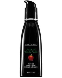 Wicked Sensual Care Aqua Waterbased Lubricant – 2 oz Candy Apple