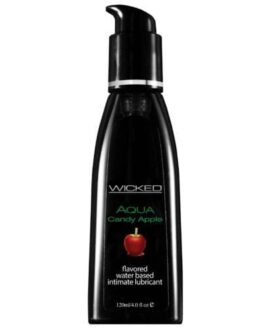 Wicked Sensual Care Aqua Waterbased Lubricant – 4 oz Candy Apple