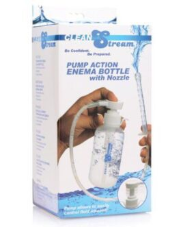 Cleanstream Pump Action Enema Bottle w/Nozzle