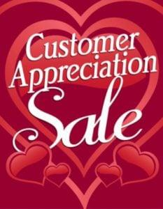 Customer Appreciation Day – Extended Rest Of The Week