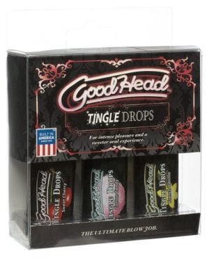 Good Head Tingle Drops 3 Pack - Sweet Cherry/Cotton Candy/French Vanilla