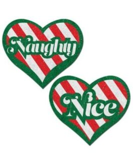 Pastease Naughty/Nice Candy Canes Heart – Multicolors O/S