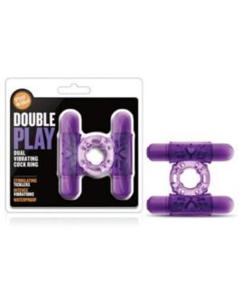 Blush Play With Me Double Play Dual Vibrating Cockring – Purple