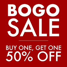 Buy One – Get One 50% Off
