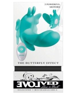 Evolved The Butterfly Effect Rechargeable Dual Stim – Teal