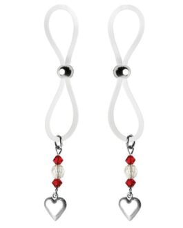 Bijoux de Nip Nipple Halos Heart Charm – Red/Clear