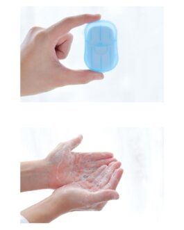 Portable Travel-Sized Soap Holder and 20 Sheets of Soap