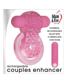 Adam & Eve Couples Enhancer Rechargeable Cock Ring – Pink