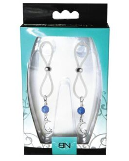 Bijoux de Nip Nipple Halos Moon & Star Charm – Blue/Clear