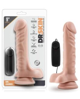 Blush Dr. Skin Dr. James 9″ Cock w/Suction Cup – Vanilla