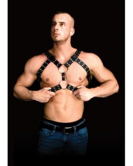 Shots Ouch Andreas Masculine Masterpiece Body Harness – Black