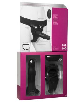Body Extensions Be Aroused Vibrating 2 Piece Strap On Set – Black