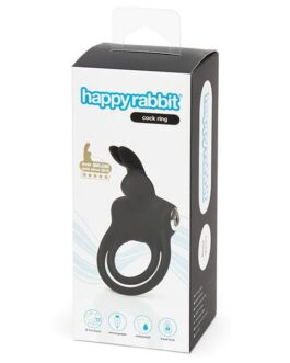 Happy Rabbit Love Ring Rechargeable – Black