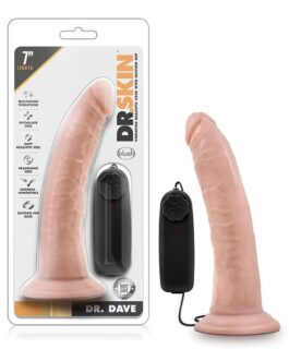 Blush Dr. Skin Dr. Dave 7″ Cock w/Suction Cup – Vanilla