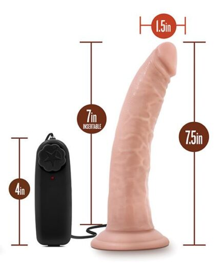 "Blush Dr. Skin Dr. Dave 7"" Cock w/Suction Cup - Vanilla"