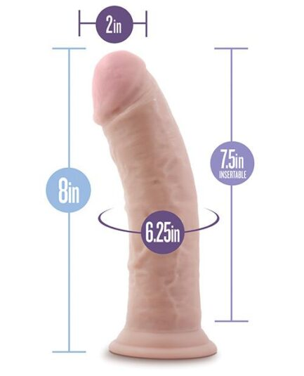 "Blush Au Naturel 8"" Dildo w/Suction Cup - Vanilla"